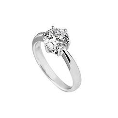 Diamonfire - Silver carat cubic zirconia ring