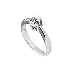 Diamonfire - Silver carat elegant ring