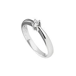Diamonfire - Silver signature elegant solitaire ring
