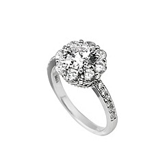 Diamonfire - Silver cocktail cubic zirconia stones ring