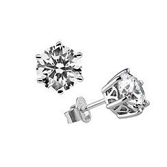Diamonfire - Silver carat cubic zirconia earring