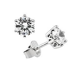 Diamonfire - Silver carat stud earring