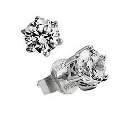 Diamonfire - Silver carat platinum plated stud earrings