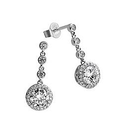 Diamonfire - Silver fancy colours drop earrings