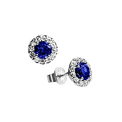 Diamonfire - Blue royal colours sapphire blue earrings