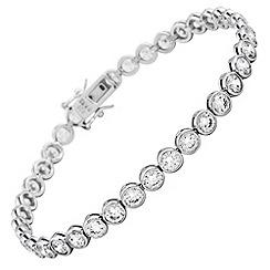 Diamonfire - Silver fancy colours platinum plated stone bracelet