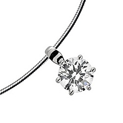 Diamonfire - Silver eternity platinum plated silver pendant