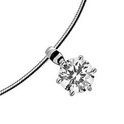 Diamonfire - Silver eternity platinum plated silver pendant