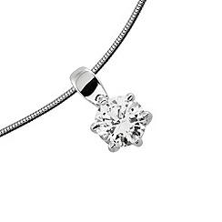 Diamonfire - Silver carat platinum plated pendant