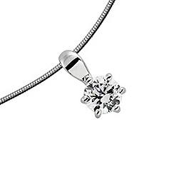 Diamonfire - Silver carat single stone pendant