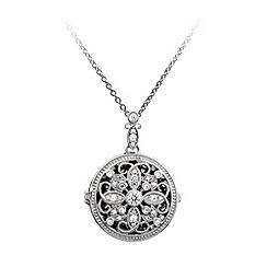 Diamonfire - Silver intricate pendant