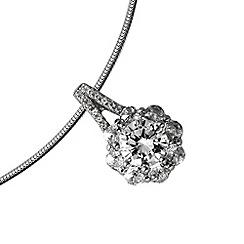 Diamonfire - Silver enchanting cluster necklace