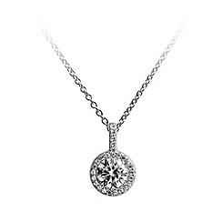 Diamonfire - Silver cluster pendant