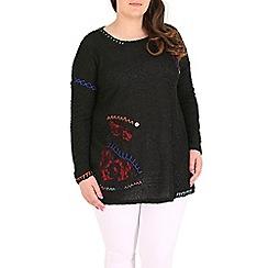 Samya - Black patchwork knitwear pullover