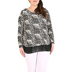 Samya - Black layered leopard print top