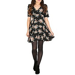 Tenki - Black flower  print dress