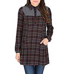 Tenki - Blue check shirt dress