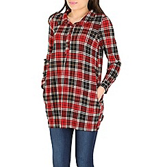 Tenki - Red check tunic dress