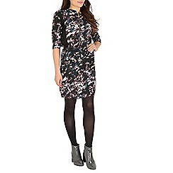 Cutie - Black abstract print dress