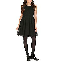 Cutie - Black a-line textured dress