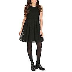 Cutie - Black a-line textured dress