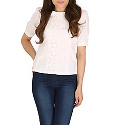 Cutie - White puff sleeve lace top
