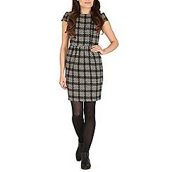 Cutie - Black textured monochrome dress