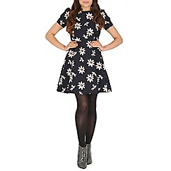 Cutie - Navy floral skater dress