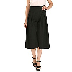 Cutie - Black stretchy fabric culottes