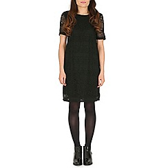 Cutie - Black laser cut panel dress