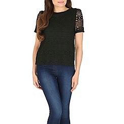 Cutie - Black lace texture top