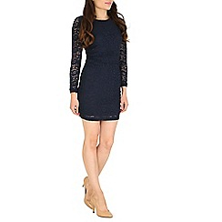 Cutie - Navy fitting lace dress