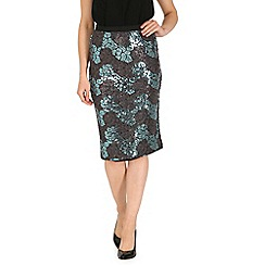 Cutie - Blue sequin pencil skirt