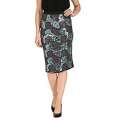 Cutie - Blue sequin pencil skirt