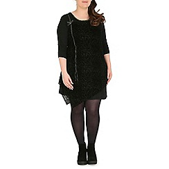 Samya - Black overlayed tunic dress