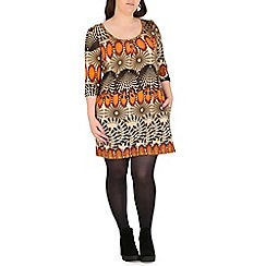 Samya - Orange tribal print top
