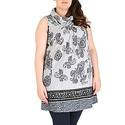 Samya - Grey eastern print top