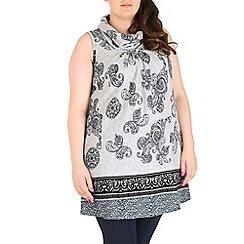 Samya - Grey eastern print top