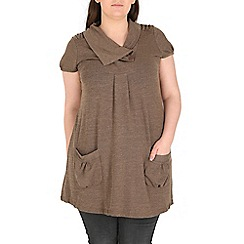 Samya - Brown fold over tunic top