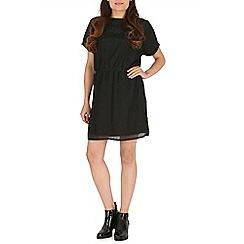 Voulez Vous - Black batwing metallic dress