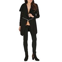 Voulez Vous - Black waterfall lace sleeve jacket