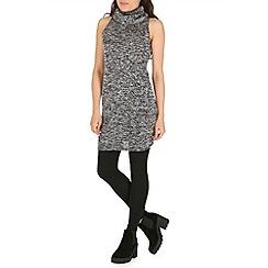 Voulez Vous - Grey slub knit cowl neck dress