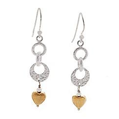 Banyan - Silver linked heart earrings
