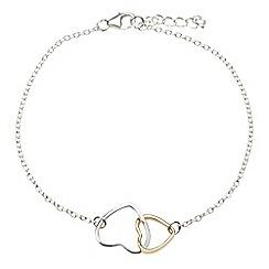 Banyan - Silver interlocking hearts necklace