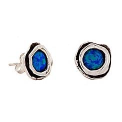 Banyan - Silver opalite stud earrings