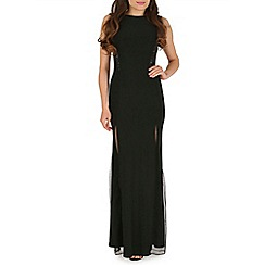 Amaya - Black maxi dress with sequins