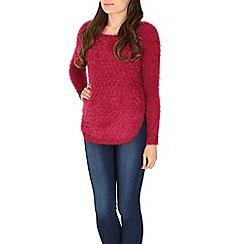 Izabel London - Dark red fluffy jumper