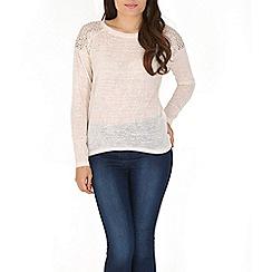 Izabel London - Cream studded jumper