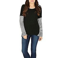 Izabel London - Black stripe print top