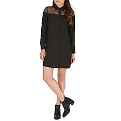 AS by Anna Smith - Black organza shoulder shirt dress